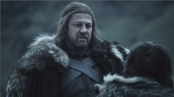 Sean Bean Eddard Stark screencas Game of Thrones
