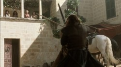 Sean Bean Nikolaj Coster-Waldau Game of Thrones sword fight Jaime Lannister Eddard Stark