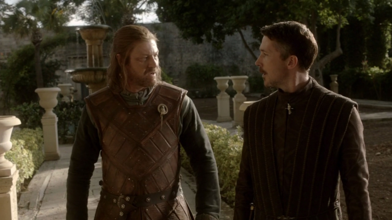 Sean Bean Eddard Stark Aidan Gillen Petyr Baelish Game of Thrones trust images photos