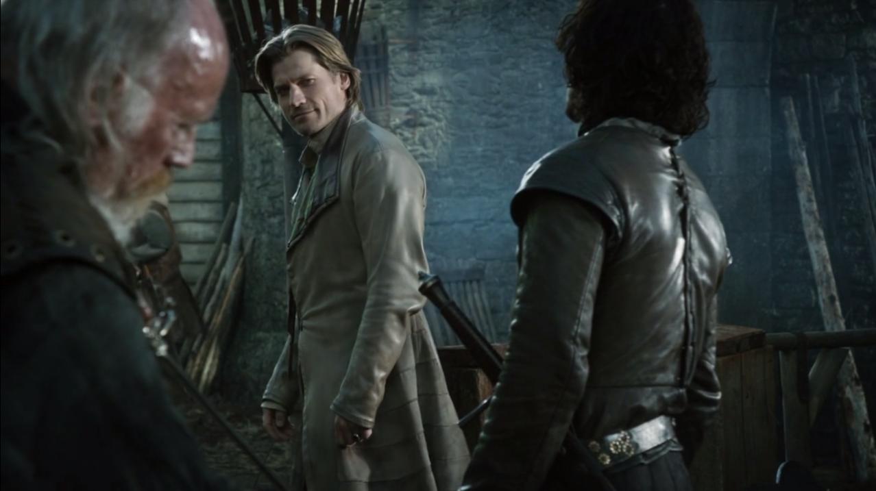 Nicolaj Coster-Waldau sleeves Jaime Lannister Game of Thrones screencaps coat