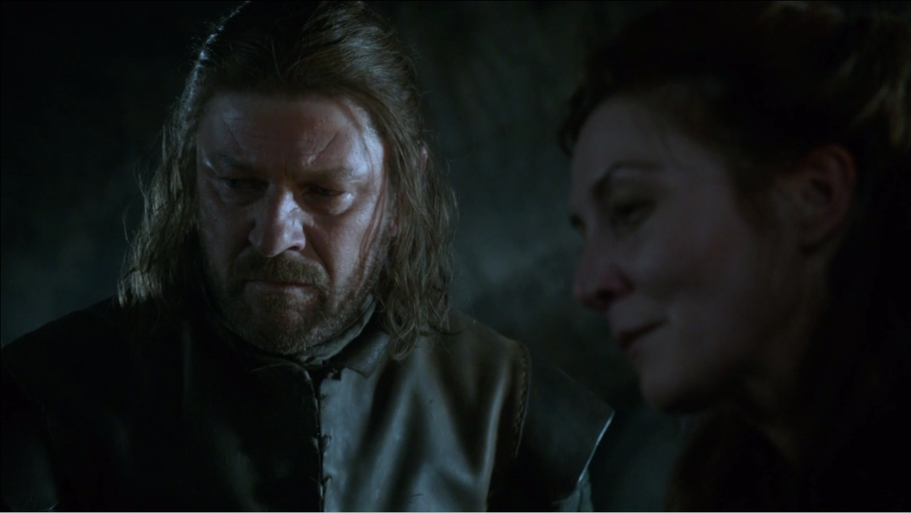 Sean Bean Eddard Stark Michelle Fairley Catelyn Stark Game of Thrones screencaps