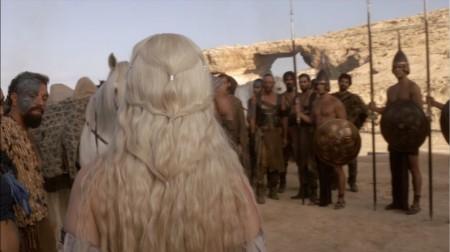Daenerys Targaryen Emilia Clarke white blond hair twists braids pictures screencaps photos