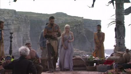 Daenerys Targaryen Emilia Clarke Khal Drogo Jason Momoa pictures photos Game of Thrones