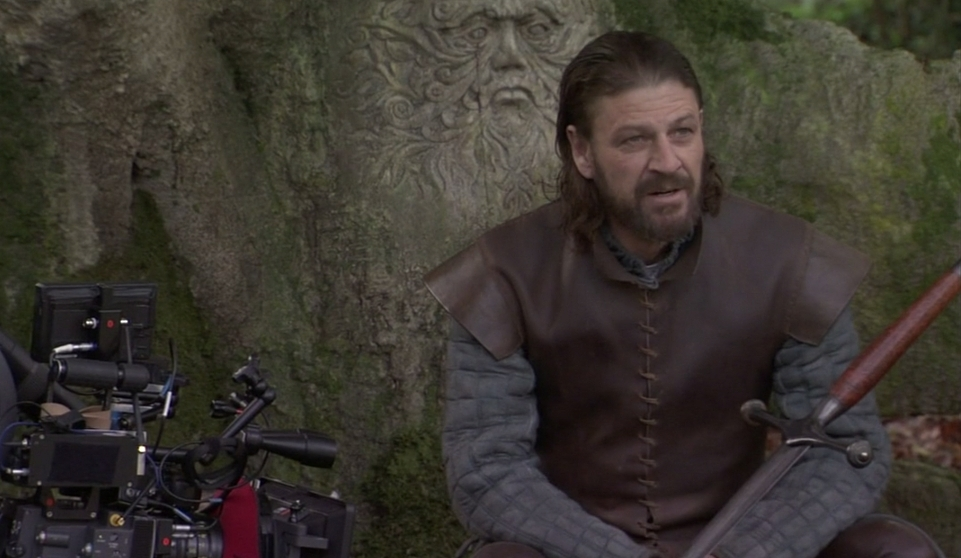 Sean Bean behind the scenes Eddard Stark Game of Thrones pics screencaps